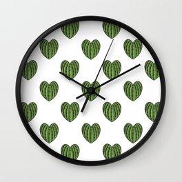 Cactus Hearts Wall Clock