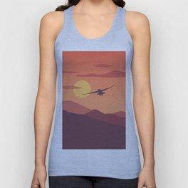 Sunset, the bird Unisex Tank Top