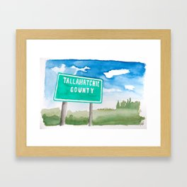 Tallahatchie County Framed Art Print