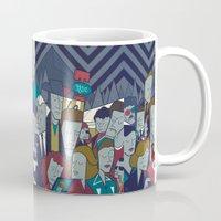 twin peaks Mugs featuring Twin Peaks by Ale Giorgini