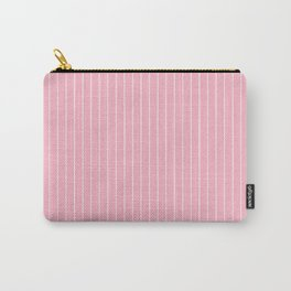 Pink Business Stripes Carry-All Pouch