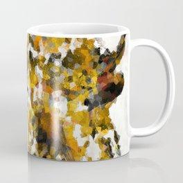 Modern Yellow Buffalo Art by Sharon Cummings Coffee Mug