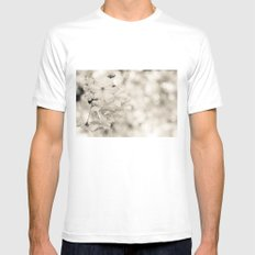 cherry blossoms MEDIUM Mens Fitted Tee White