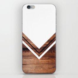 White & Wood iPhone Skin