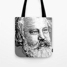 Johannes Brahms WB Tote Bag