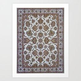 Antique Persian Rug Art Print