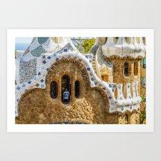 Gaudi Windows Art Print