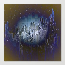 Walls in the Night - UFOs in the Sky Canvas Print