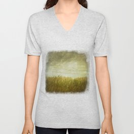 Vintage Wheat Field Unisex V-Neck