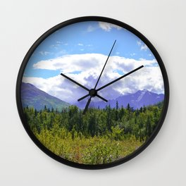 The Mountains Are Calling . . . II Wall Clock