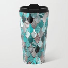 Mermaid, Sea Reflections, Teal Grey Travel Mug