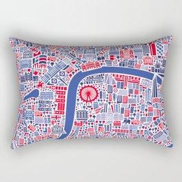 London City Map Poster Rectangular Pillow