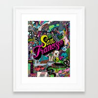 san francisco Framed Art Prints featuring San Francisco by Chris Piascik
