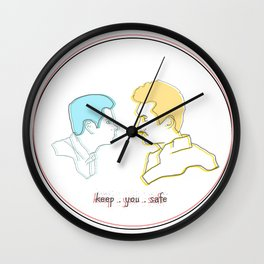 Keep You Safe - Ste & Brendan Wall Clock