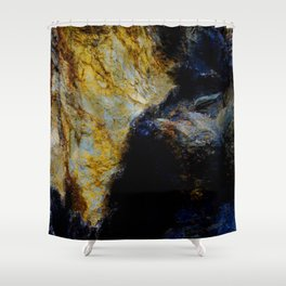 Blue Hymn Shower Curtain