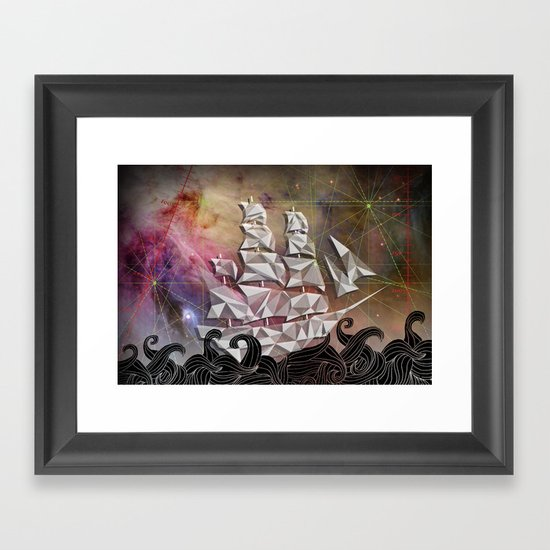 Celestial Ship Framed Art Print