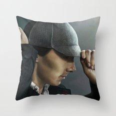 Sherlock and his deerstalker Throw Pillow