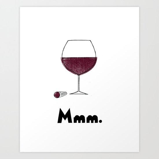 Mmm. Vin Art Print