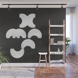 Xmas Typo Black #society6 #decor #buyart Wall Mural