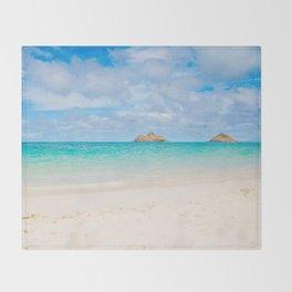 Lanikai Beach Throw Blanket