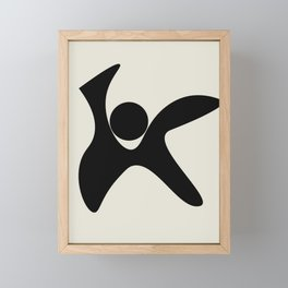 Black and White Abstract Shapes #12 Framed Mini Art Print