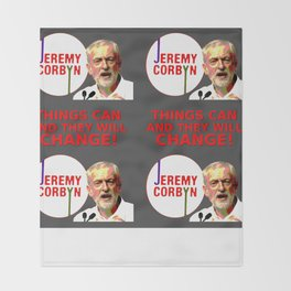 Jeremy Corbyn - Things Can Change (Labour) Throw Blanket