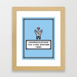 Sarcastic Birthday  Framed Art Print