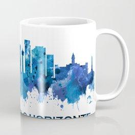 Belo Horizonte Brazil Skyline Blue Coffee Mug