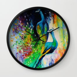 Peacocks Wall Clock