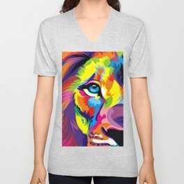 Colored Lion Unisex V-Neck