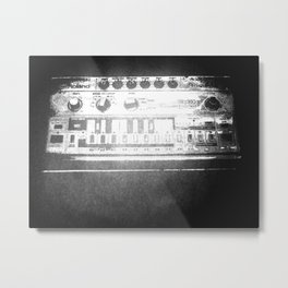 TB 303 screen print Metal Print