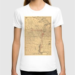 Illinois Central Rail Road 1892 T-shirt