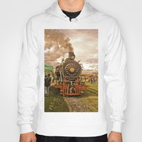 train Hoodies featuring Train by Alejandra Triana Muñoz (Alejandra Sweet