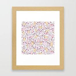 Adorable Axolotls Framed Art Print