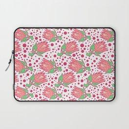 Soft Pink Australian Native Floral Print - King Protea Laptop Sleeve