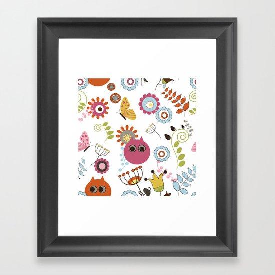 Owl in Pandora Framed Art Print
