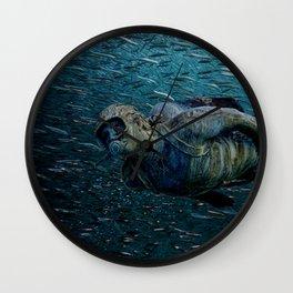 Submarine stone traveler Wall Clock