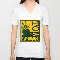 tom waits V-neck T-shirts featuring Tom Waits by Silvio Ledbetter
