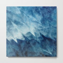 Blue waves Metal Print