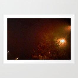 A Cold Winter Night Art Print
