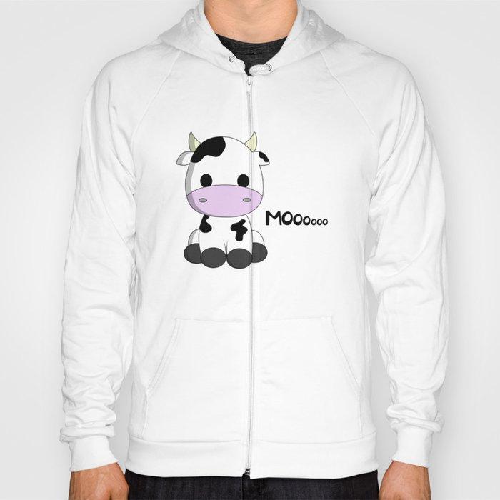 ccab94451 Cute baby cow cartoon Hoody by pixxart | Society6