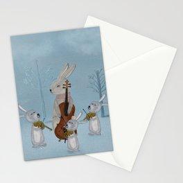 the bunny quartet Stationery Cards