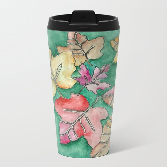 Fall Leaves Fall Metal Travel Mug