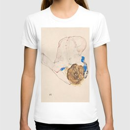 Egon Schiele - Nude with Blue Stockings, Bending Forward T-shirt
