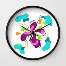 Flower power green lover Wall Clock
