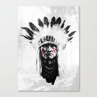 native american Canvas Prints featuring Native American by Maioriz Home