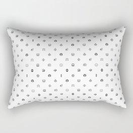 Super Mario Items White Rectangular Pillow