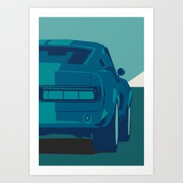 Gurly cars 003 Art Print
