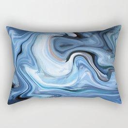 Marble texture print Rectangular Pillow