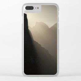Yosemite Valley Moonlight Clear iPhone Case